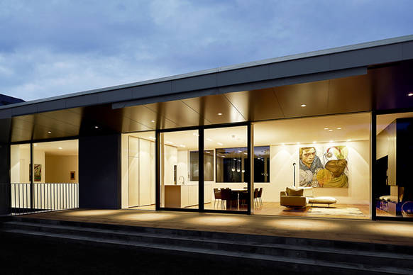 villa k occhio verbindet r ume mit licht on light. Black Bedroom Furniture Sets. Home Design Ideas