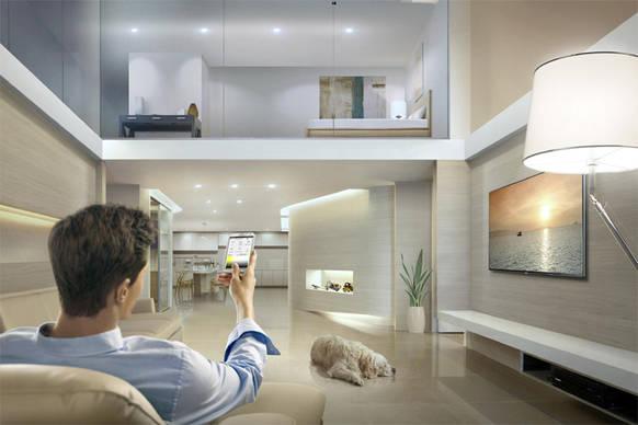 samsung bringt licht ins smart home on light licht im netz. Black Bedroom Furniture Sets. Home Design Ideas