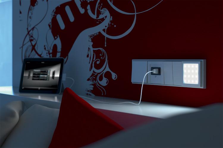lichtquelle im schalterdesign on light licht im netz. Black Bedroom Furniture Sets. Home Design Ideas