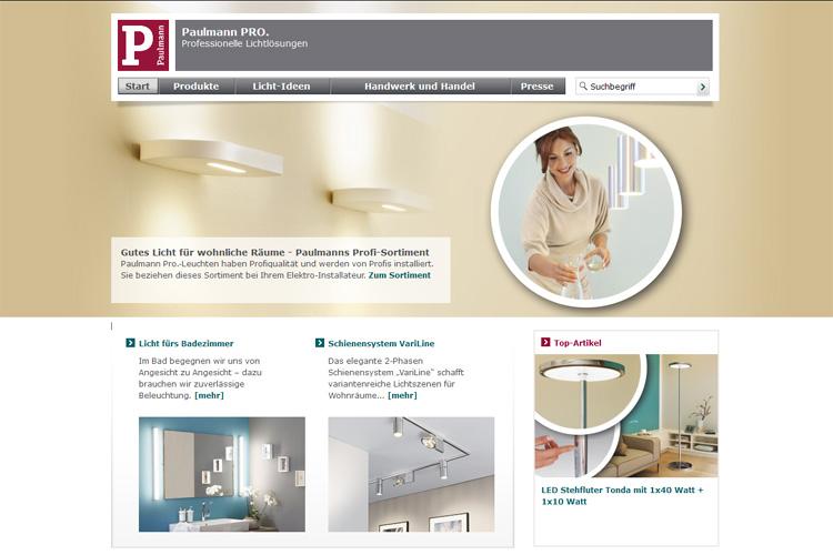 Paulmann Pro Mit Neuem Internetauftritt On Light Licht Im Netz