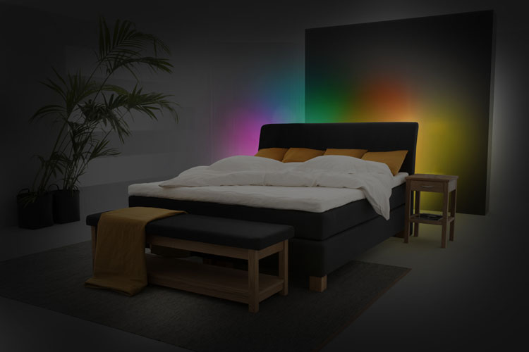 atmosph re im schlafzimmer on light licht im netz. Black Bedroom Furniture Sets. Home Design Ideas