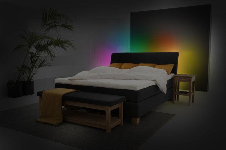 atmosph re im schlafzimmer on light licht im netz. Black Bedroom Furniture Sets. Home Design Ideas